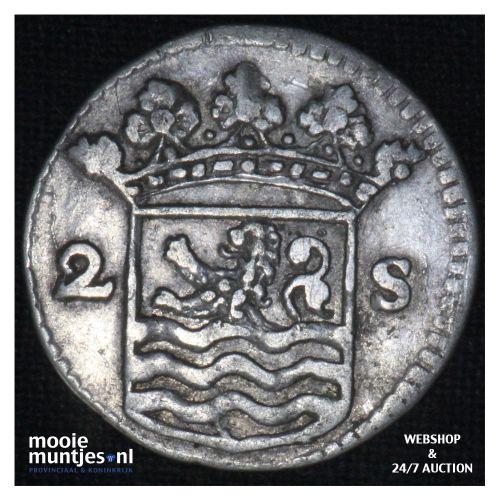 Zeeland - Dubbele wapenstuiver - 1736 (kant B)