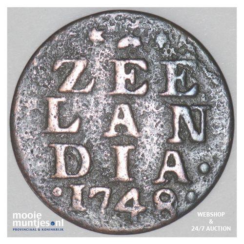 Zeeland - Duit - 1748 over 40 (kant A)