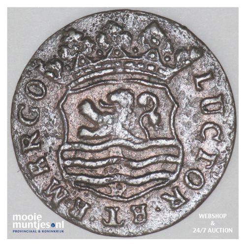 Zeeland - Duit - 1748 over 40 (kant B)