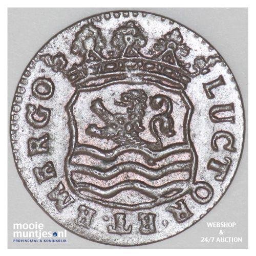 Zeeland - Duit - 1736 (kant B)