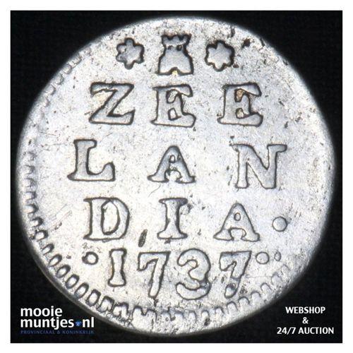 Zeeland - Dubbele wapenstuiver - 1737 (kant A)