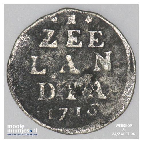 Zeeland - Dubbele wapenstuiver - 1716 (kant A)