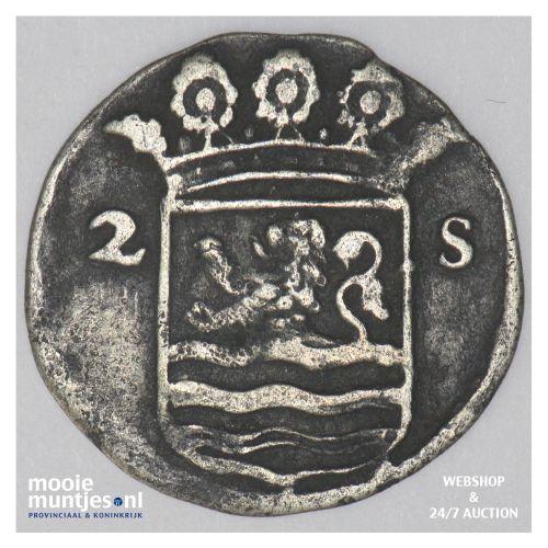 Zeeland - Dubbele wapenstuiver - 1716 (kant B)