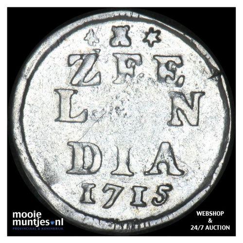 Zeeland - Dubbele wapenstuiver - 1715 (kant A)