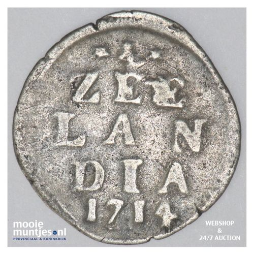 Zeeland - Dubbele wapenstuiver - 1714 (kant A)