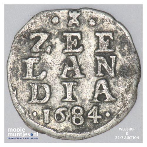 Zeeland - Dubbele wapenstuiver - 1684 (kant A)