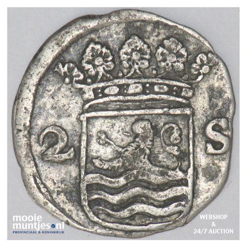 Zeeland - Dubbele wapenstuiver - 1684 (kant B)