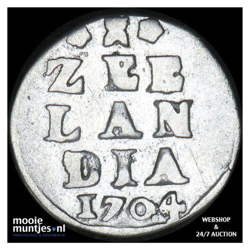 Zeeland - Dubbele wapenstuiver - 1704 (kant A)