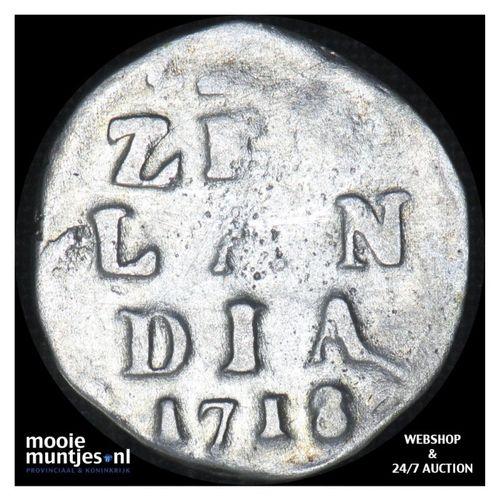 Zeeland - Dubbele wapenstuiver - 1718 (kant A)