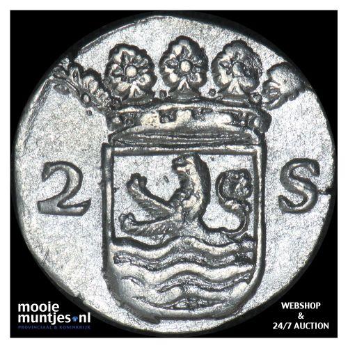 Zeeland - Dubbele wapenstuiver - 1702 (kant B)