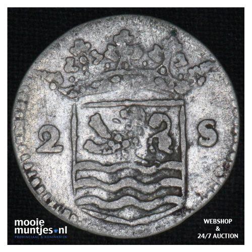 Zeeland - Dubbele wapenstuiver - 1738 over 34  (kant B)