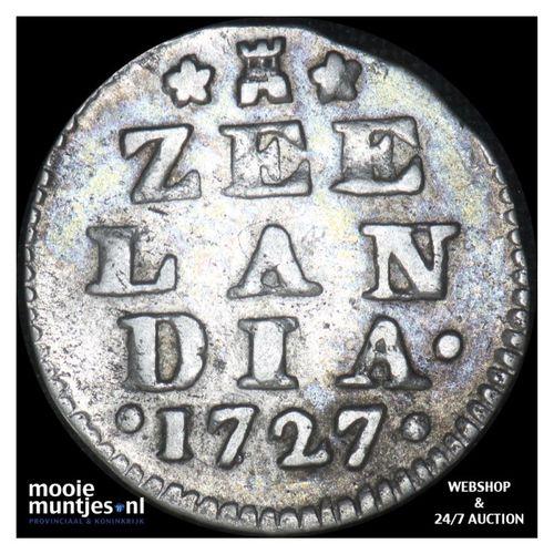Zeeland - Dubbele wapenstuiver - 1727 (kant A)