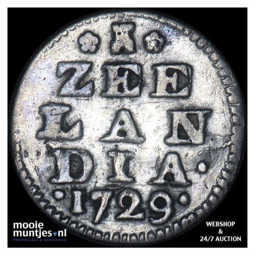 Zeeland - Dubbele wapenstuiver - 1729 (kant A)