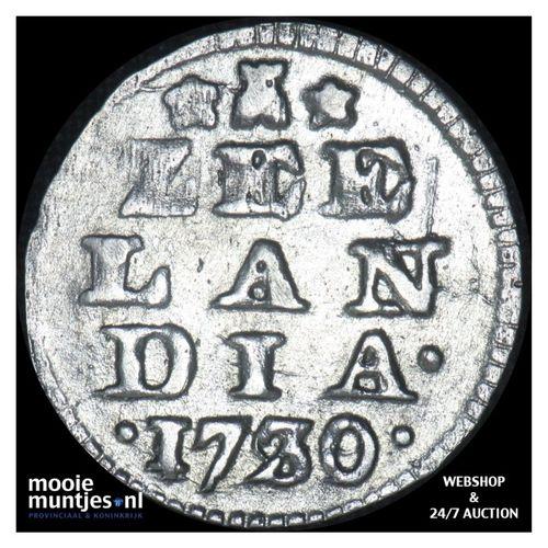 Zeeland - Dubbele wapenstuiver - 1730 over 29 (kant A)