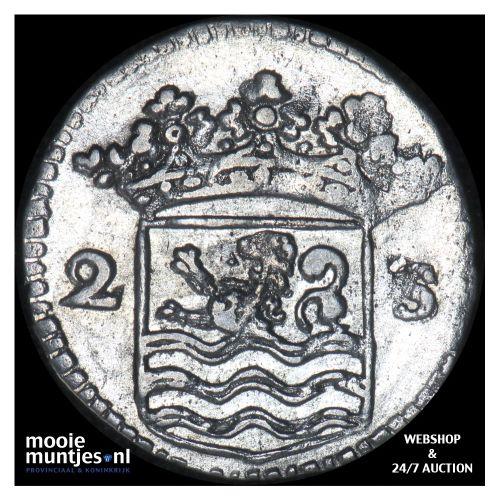 Zeeland - Dubbele wapenstuiver - 1730 over 29 (kant B)