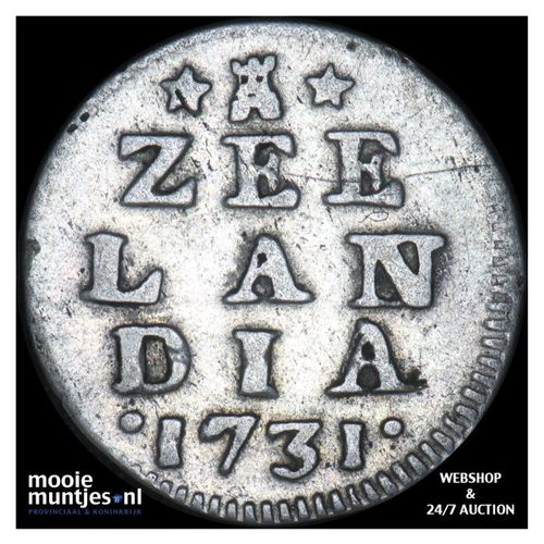Zeeland - Dubbele wapenstuiver - 1731 (kant A)