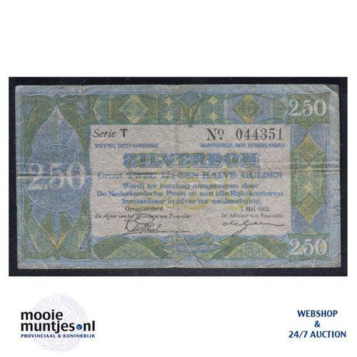 2½ gulden - 1918 (Mev. 12-4a / AV 10) (kant A)