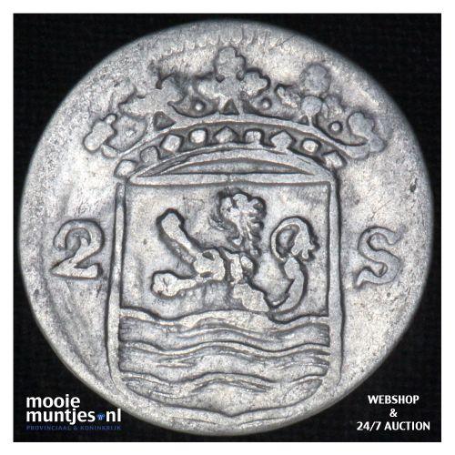 Zeeland - Dubbele wapenstuiver - 1754 over 53 (kant B)