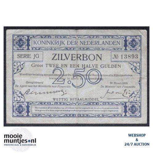 2½ gulden - 1915 (Mev. 11-2b / AV 9 ) (kant A)