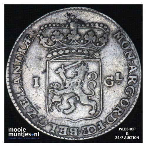 Zeeland - Gulden - 1763 (kant B)