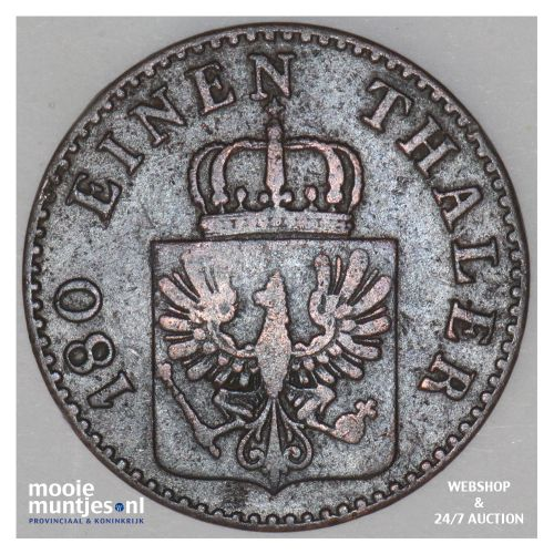 2 pfennig - German States/Prussia 1858 A (KM 452a) (kant B)