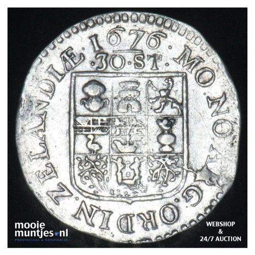 Zeeland - Daalder van 30 stuiver - 1676 (kant A)