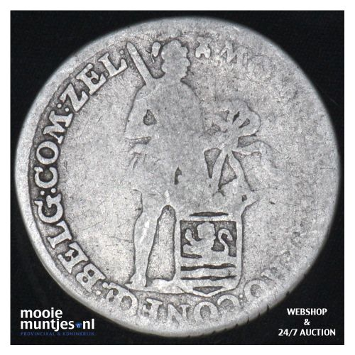 Zeeland - Achtste dukaat of Pietje - 1780 (kant B)