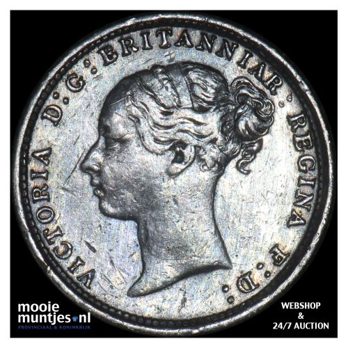 3 pence - Great Britain 1885 (KM 730) (kant B)