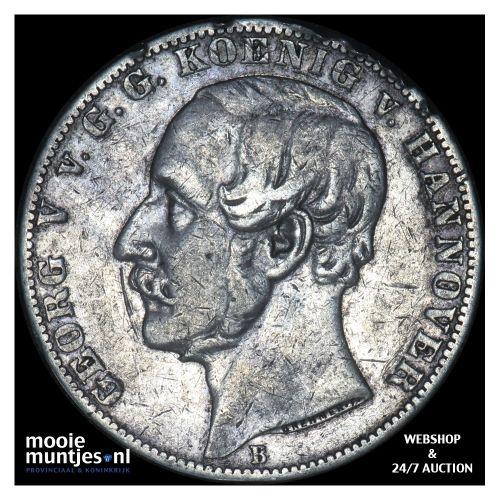 thaler - German States/Hannover 1866 B (KM 230) (kant B)