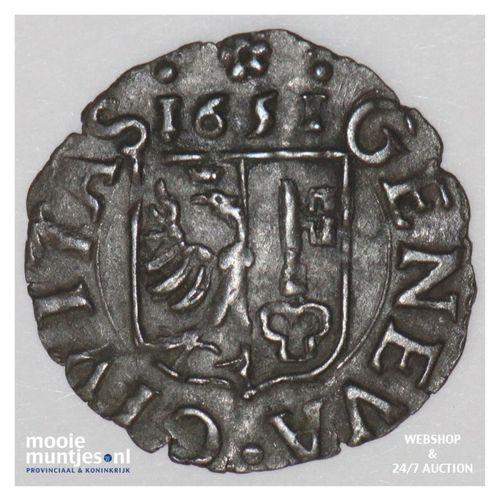 6 deniers (2 quarts) - Swiss Cantons/Geneva 1651 (KM 12) (kant A)