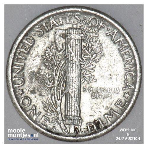 dime - mercury - United States of America 1919 S (KM 140) (kant B)