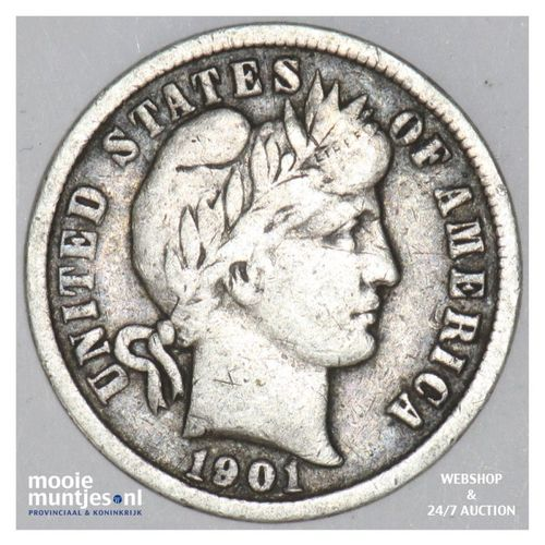 dime - barber - United States of America 1901 (KM 113) (kant A)
