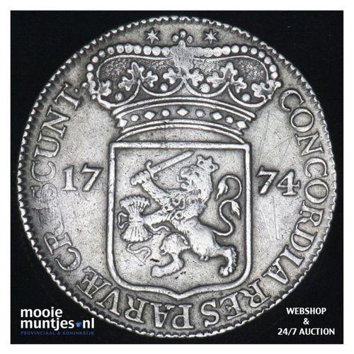 Zeeland - Zilveren dukaat - 1774 (kant A)