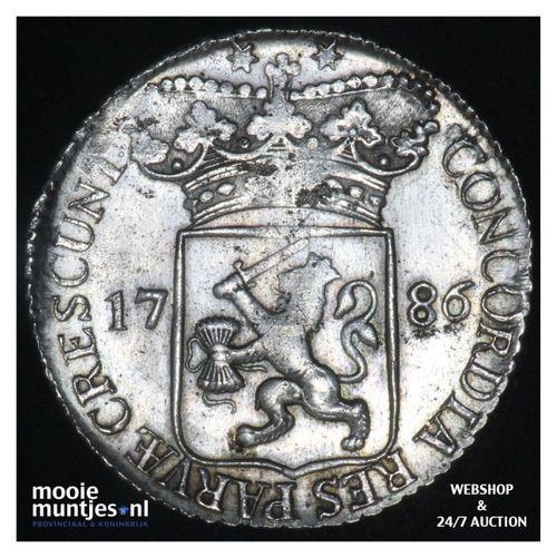 Zeeland - Zilveren dukaat - 1786 (kant A)