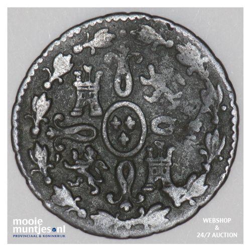 2 maravedis - Spain 1827 (KM 487.1) (kant B)