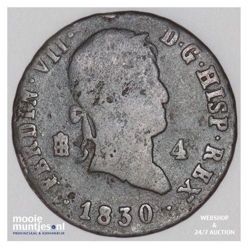 4 maravedis - Spain 1830 (KM 489.2) (kant A)