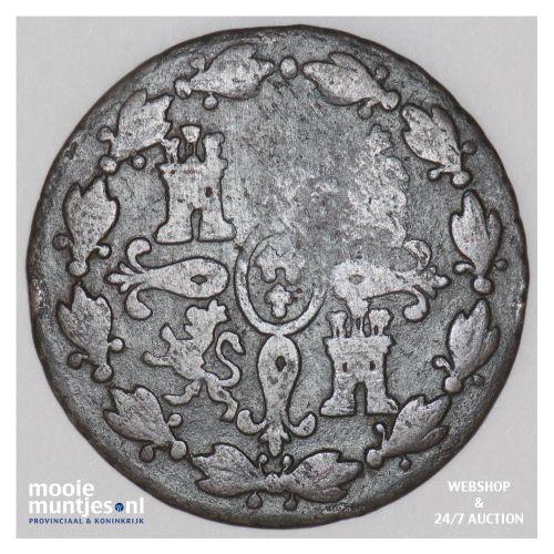 4 maravedis - Spain 1830 (KM 489.2) (kant B)