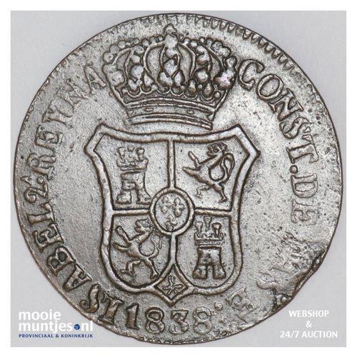 6 quartos - Spain/Catalonia 1838 (KM 128) (kant A)
