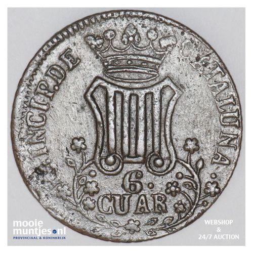 6 quartos - Spain/Catalonia 1838 (KM 128) (kant B)