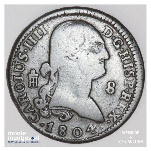 8 maravedis - Spain 1804 (KM 428) (kant A)