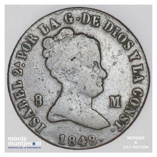 8 maravedis - Spain 1848 (KM 531.2) (kant A)