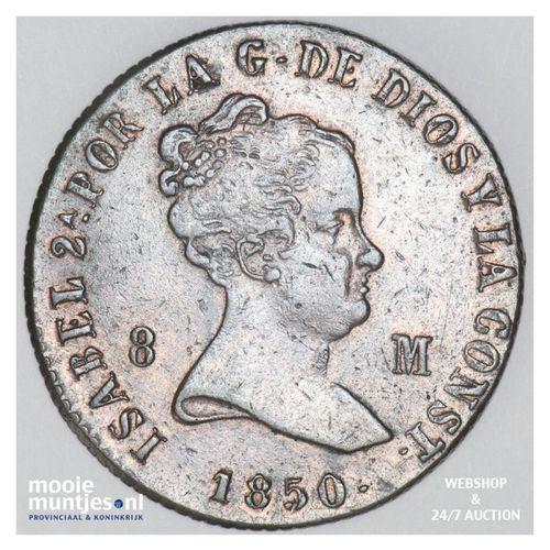 8 maravedis - Spain 1850 (KM 531.2) (kant A)