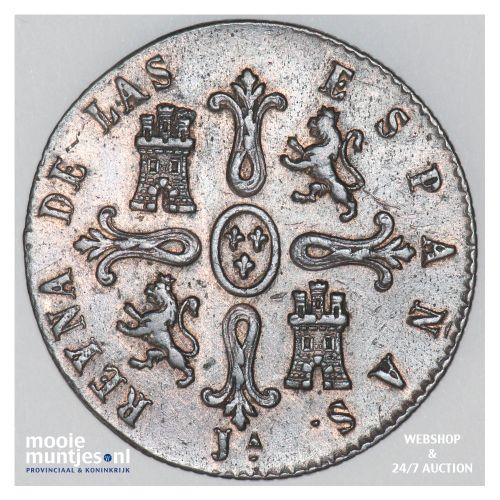 8 maravedis - Spain 1850 (KM 531.2) (kant B)