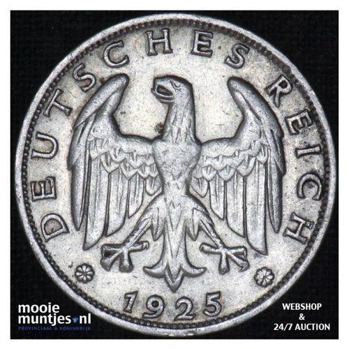 reichsmark - Germany-Weimar Republic 1925 F (KM 44) (kant A)