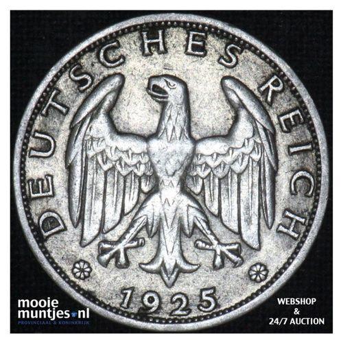 reichsmark - Germany-Weimar Republic 1925 J (KM 44) (kant A)
