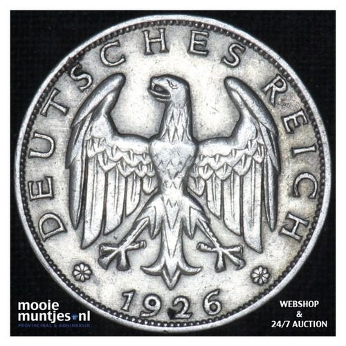 reichsmark - Germany-Weimar Republic 1926 A (KM 44) (kant A)