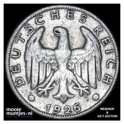 reichsmark - Germany-Weimar Republic 1926 F (KM 44) (kant A)