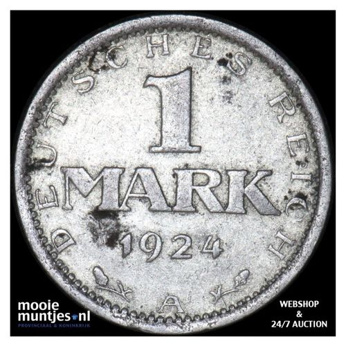 mark - Germany-Weimar Republic 1924 A (KM 42) (kant A)