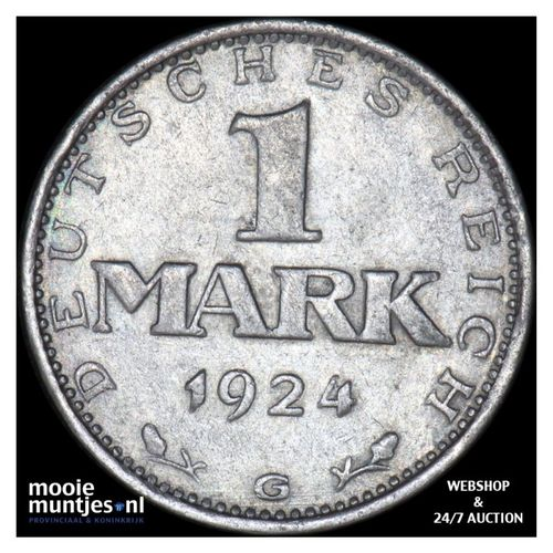 mark - Germany-Weimar Republic 1924 G (KM 42) (kant A)