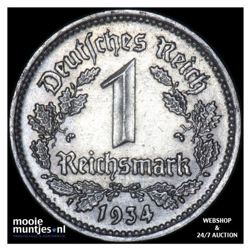 reichsmark - Germany-Third Reich 1934 A (KM 78) (kant A)